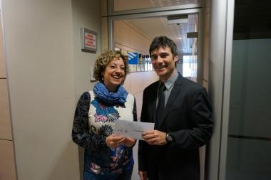 Donation to TV3's La Marató
