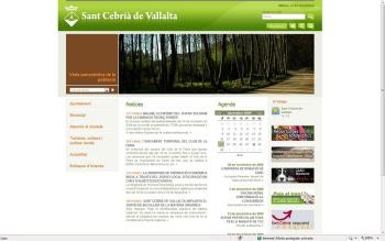Website of the Municipal Government of Sant Cebrià